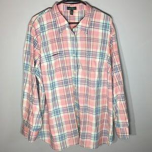 Ralph Lauren Pink Flannel Plus Size